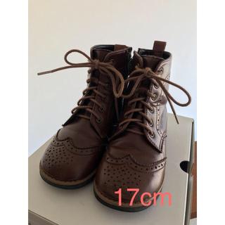 ファミリア(familiar)のファミリア ブーツ17cm ブラウン 日本製(ブーツ)