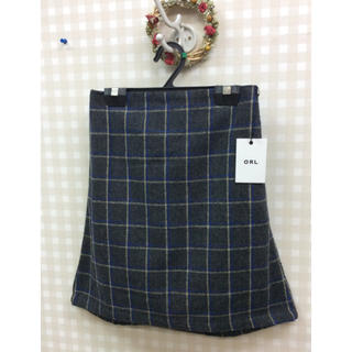 GRL - 【新品】GRLウエストすっきりウール混 チェック台形スカート