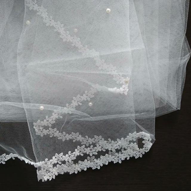 TAKAMI(タカミ)のタカミブライダル   パール付きロングベール レディースのフォーマル/ドレス(ウェディングドレス)の商品写真