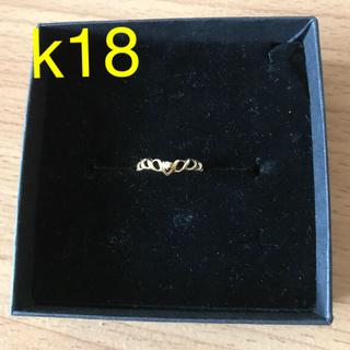 k18 YG ダイヤモンドリング 15号