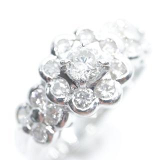 トクトクジュエリー ダイヤモンド 1カラット越え プラチナ 約6.9g(リング(指輪))