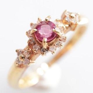 トクトクジュエリー ルビー ダイヤモンド 18金 リング(リング(指輪))