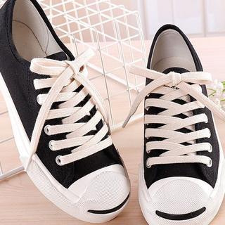 コットン 綿 シューレース 靴ひも 生成り 120 コンバース23.5~26.5(スニーカー)