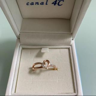 カナルヨンドシー(canal4℃)の4°C ハート 指輪 ピンクゴールド(リング(指輪))