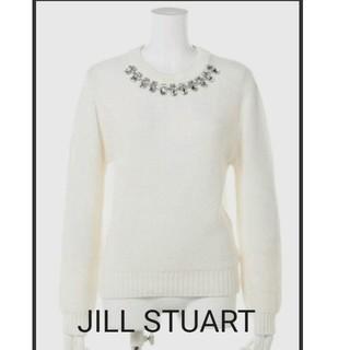 ジルスチュアート(JILLSTUART)のJILL STUART*美品❣ビジューニット*ジルスチュアート(ニット/セーター)