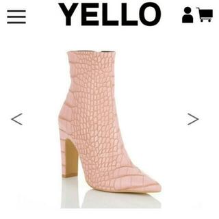 イエローブーツ(Yellow boots)のyello定価18800円「ALLIY SHORT」ショートブーツピンク(ブーツ)