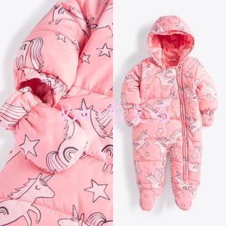 ネクスト(NEXT)の【新品】next ピンクユニコーン プリントベビースーツ(ベビー)(ジャケット/コート)