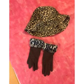 ユミカツラ(YUMI KATSURA)の⭐️お値下げしました⭐️レオパード柄⭐️帽子と手袋⭐️新品未使用(手袋)