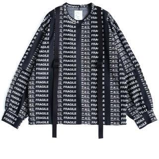 シャリーフ(SHAREEF)のFRAGILE ROGO SEPARATE SLEEVE L/S-T サイズ2(Tシャツ/カットソー(七分/長袖))
