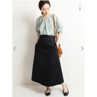 IENA - IENA  サテントラペーズスカート 新品タグ付き