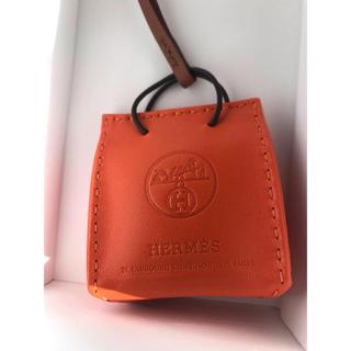 Hermes - エルメス  ショッパーチャーム  オレンジ  紙袋  ショッパー  チャーム