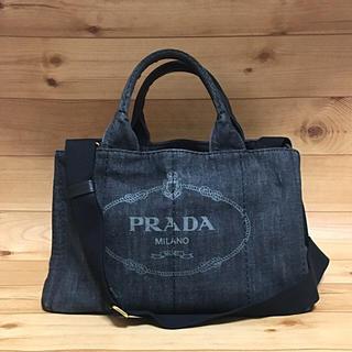 PRADA - 正規品【良品】PRADA カナパ デニム 2wayバッグ