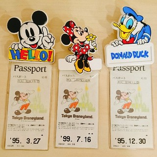 Disney - ディズニー☆90年代☆チケットホルダー3つセット