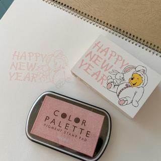 Disney - HAPPY NEW YEAR  くまのプーさん スタンプ インク セット