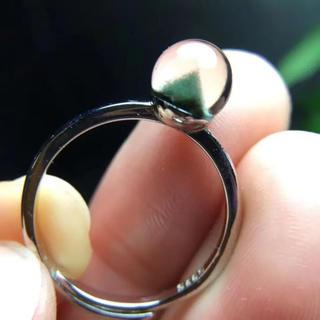 【天然】グリーンガーデンクォーツ リング 7mm s925(リング(指輪))