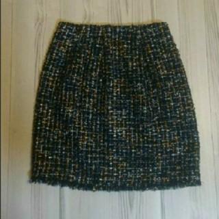 アナイ(ANAYI)のANAYI アナイ ラメ ミックスツイード スカート ウール マルチカラー 38(ミニスカート)