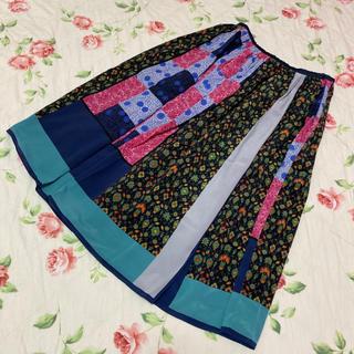ジェーンマープル(JaneMarple)のジェーンマープル☆jane marple☆スカーフのようなスカート☆ドンル(ひざ丈スカート)