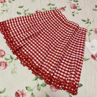 ジェーンマープル(JaneMarple)のジェーンマープル☆jane marple☆ギンガムチェック花のスカート(ミニスカート)