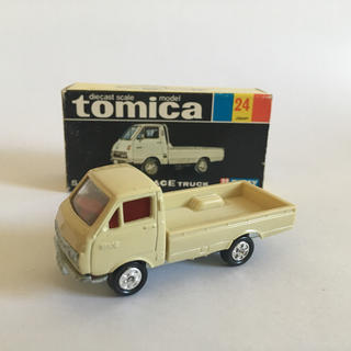 Takara Tomy - トミカ トヨタ ハイエーストラック No,24 日本製 黒箱 当時物 美品