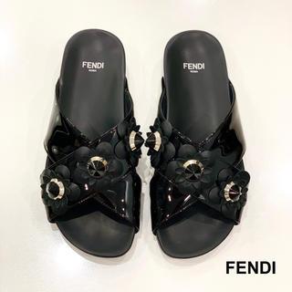 フェンディ(FENDI)の1277 FENDI フラワースタッズ サンダル(サンダル)