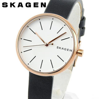 スカーゲン(SKAGEN)のスカーゲン  SKAGEN レディース腕時計 ブラックレザーベルトSKW2592(腕時計)