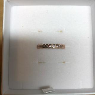 売り切り価格!K14PG ダイヤモンド フルエタニティ リング 14.5号(リング(指輪))