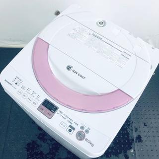 ★送料・設置無料★ シャープ 洗濯機 ES-GE60N-P (No.0965)