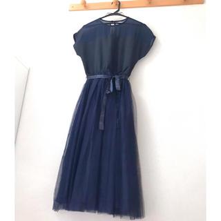 メルロー(merlot)のmerlot plus デコルテシースルーチュールスカートワンピース(その他ドレス)