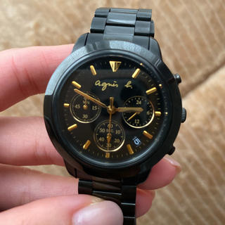 agnes b. - agnes b. 黒 腕時計