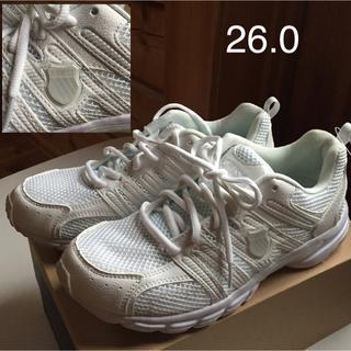ケースイス(K-SWISS)の【新品未使用】スニーカー 白 26.0EEE 通学靴(スニーカー)