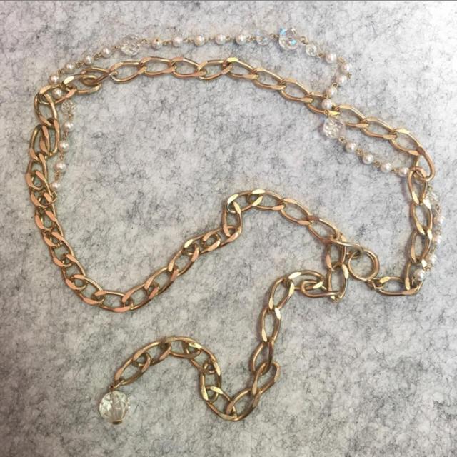 Lochie(ロキエ)のヴィンテージ パールチェーンベルト レディースのファッション小物(ベルト)の商品写真