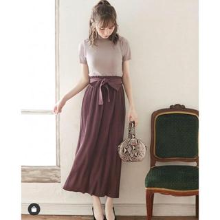 GRL - GRL リボン 付き プリーツ ロング スカート