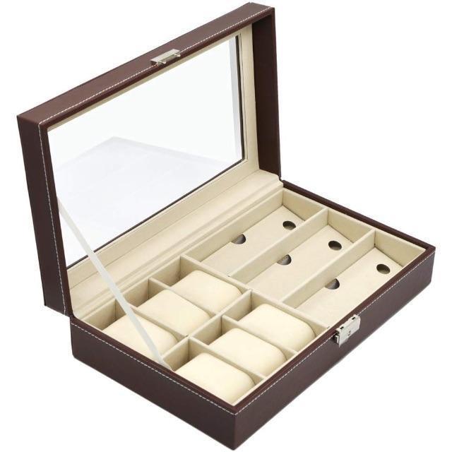 時計 収納 ケース 腕時計 収納ボックス ウォッチ コレクション ボックス ブラの通販