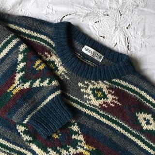 BEAMS - vintage ざっくり手編みニット