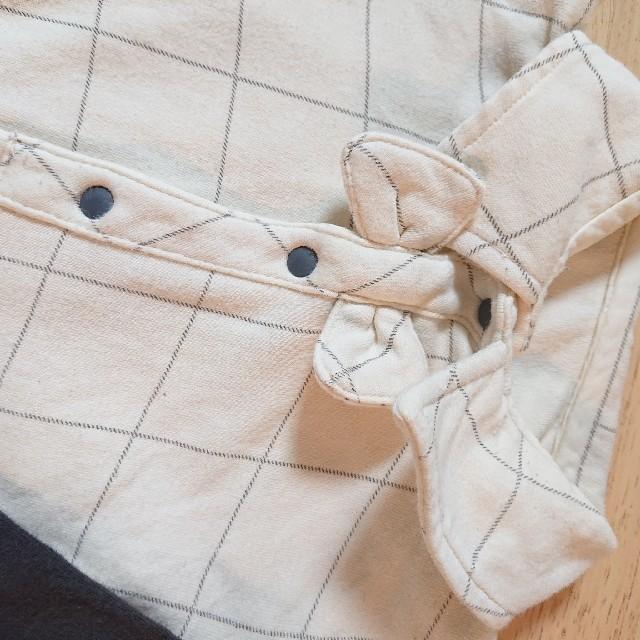 ベルメゾン(ベルメゾン)の重ね着風おしゃれ ロンパース  男の子  キッズ/ベビー/マタニティのベビー服(~85cm)(ロンパース)の商品写真