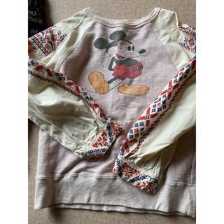 デニムダンガリー(DENIM DUNGAREE)のデニム&ダンガリー ミッキー刺繍スウェット (Tシャツ/カットソー)