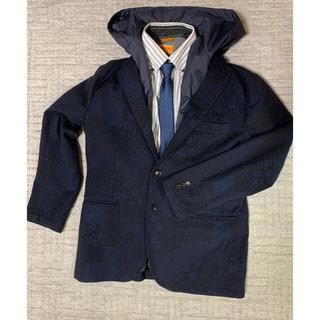 ニジュウサンク(23区)の23区コートジャケット フード・ベスト付き48紺 定価6.93万(テーラードジャケット)