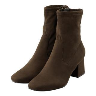 スウェード ソックスブーツはいブラウンブーツ♡♡茶色ブーツ♡♡(ブーツ)