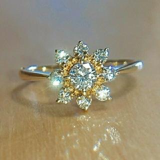 ミキモト(MIKIMOTO)のミキモト フラワー ダイヤモンド リング k18 ダイヤ (リング(指輪))