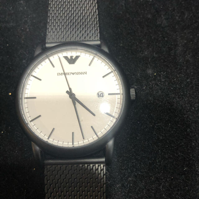 Emporio Armani - EMPORIO ARMANI 腕時計 ブラック ビジネスの通販
