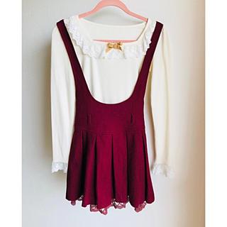 L'EST ROSE - レストローズ  ボルドー色 ジャンパースカート