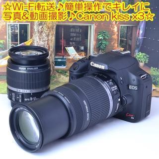 Canon - ☆Wi-Fi転送♪簡単操作でキレイに写真&動画撮影♪Canon kiss x3☆