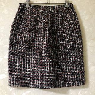 アンタイトル(UNTITLED)のUNTITLED ツイードスカート 2(ひざ丈スカート)