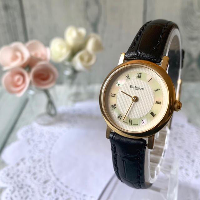 BURBERRY - 【美品】Burberrys バーバリー  腕時計 シェル レディースの通販