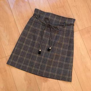 Lily Brown - リリーブラウン チェック台形スカート