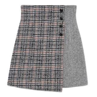 Lily Brown - 新品 Lillybrown 今季 ツイードチェック台形スカート