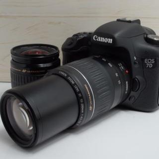 Canon - 【大人気!!】遠くもバッチリ キャノン EOS 7D ダブルレンズ キット