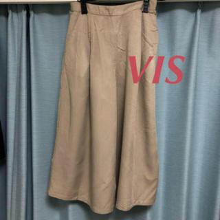 ViS - VIS☆カジュアルパンツ ワイド ガウチョ ソフトベージュ