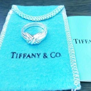 Tiffany & Co. - ☆新品☆未使用☆ティファニー シグネチャークロスリング 7号