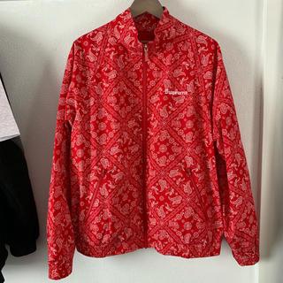 Supreme - Supreme 18ss Bandana Track Jacket red L